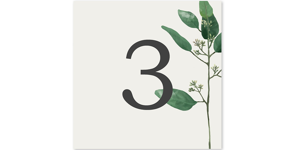 Oval Greenery - Table Number
