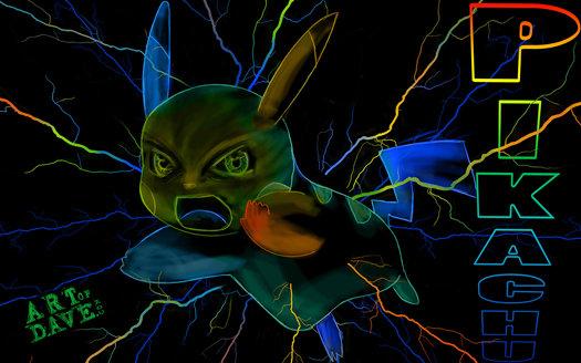 Pikachu - Chromadepth 3D Print.