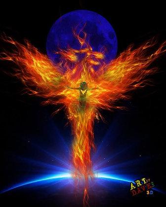 The Dark Phoenix - Chromadepth 3D Print.