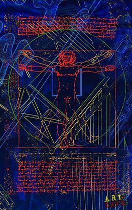 Vitruvian man - Chromadepth 3D Print.