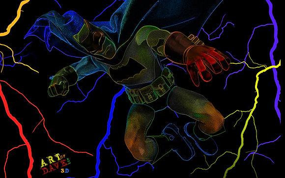 The Dark Knight - Chromadepth 3D Print.