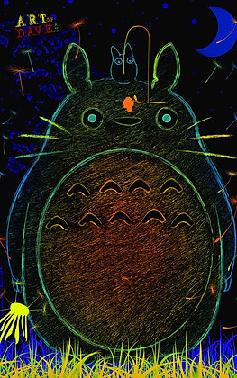 Totoro - Chromadepth 3D Print.