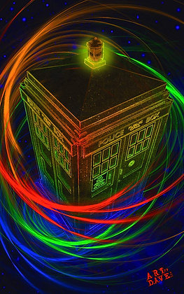 TARDIS - Chromadepth 3D Print.