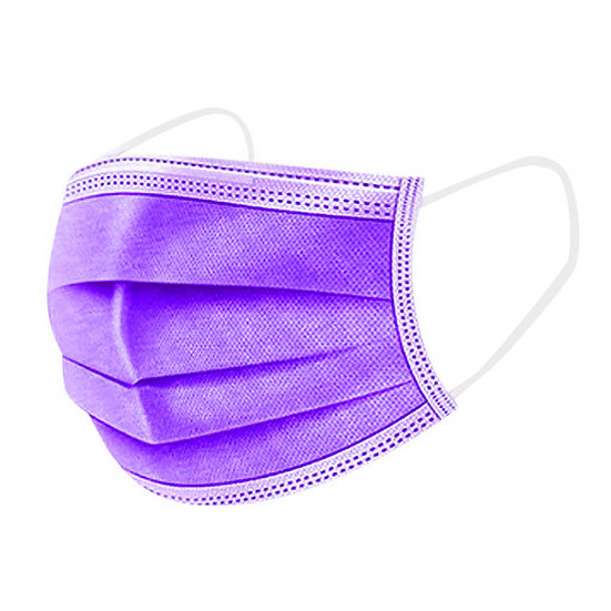 Purple Med Mask