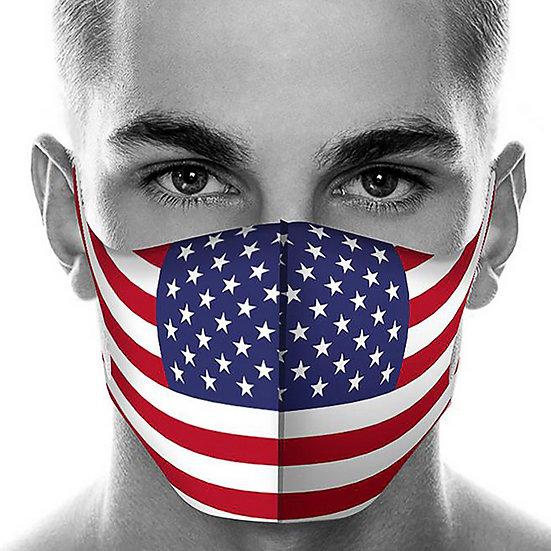 USA Flag Washable Mask