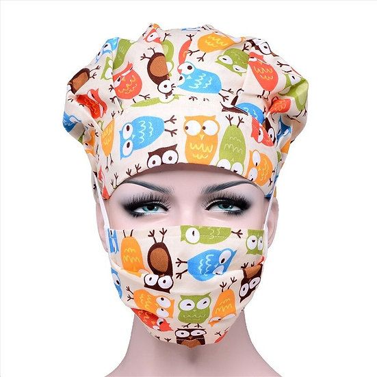 Bouffant Hat With Mask