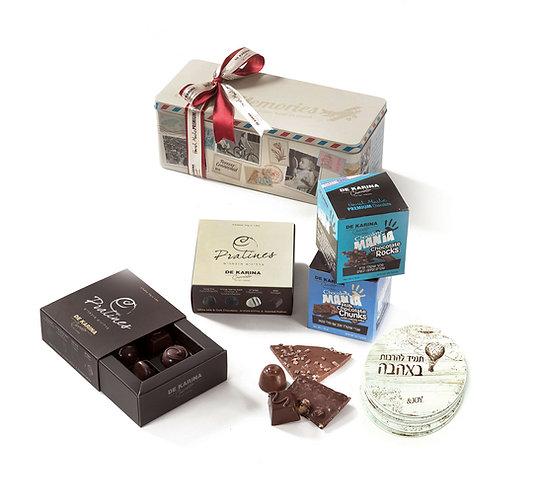 מארז פח שוקולדים דה קרינה