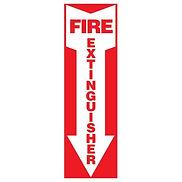 Fire Extinguisher Arrow Self Adhesive Vinyl Sign