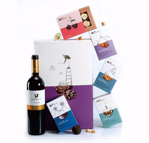 מארז שוקולד ויין אהבה
