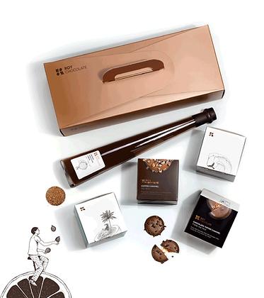 מארז מתנה וליקר שוקולד במזוודה