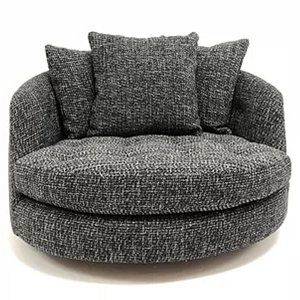 Milo Baughman Round Chaise swivel