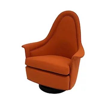 Milo Baughman Petite Chair Flared Arms