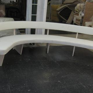 Custom bench in muslin