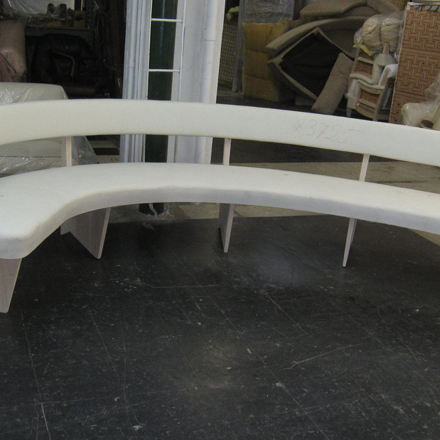 Custom bench in muslin