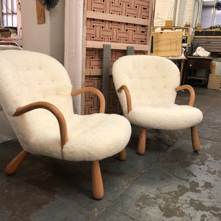 Custom reproduction of Clam Chairs