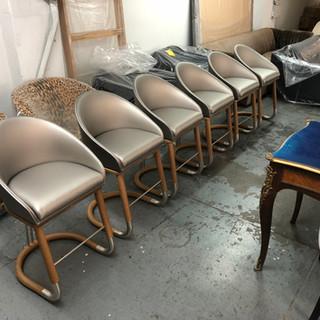 Custom set of dining room chairs