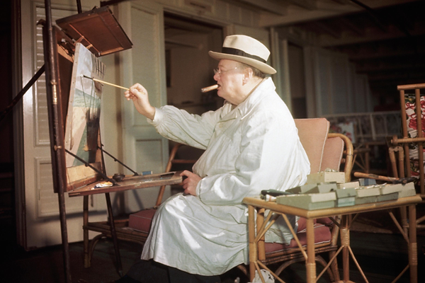 How extracurricular activities help your child, Winston Churchill painting