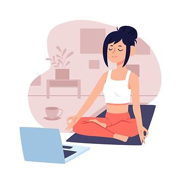 Online yoga, online extracurricular activities