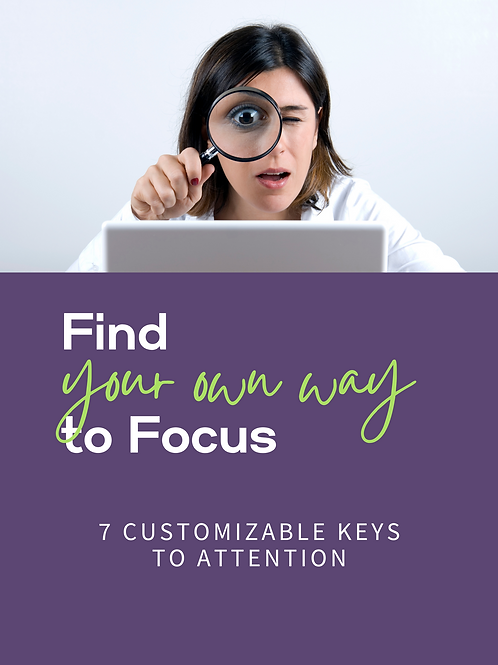 """""""Find Your Own Way to Focus"""" mini ebook"""