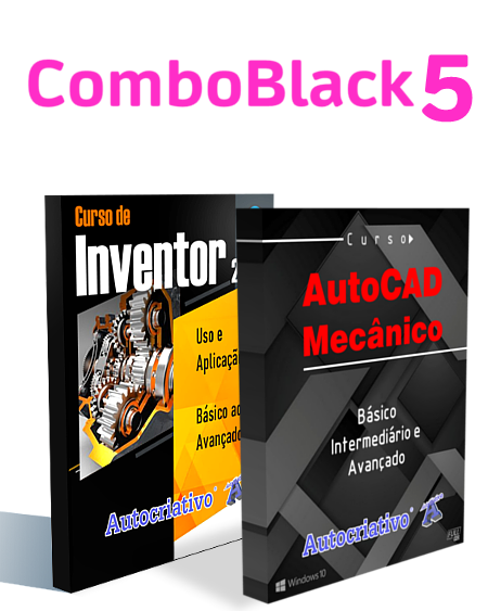Combo 5 - Curso de Inventor 2020 + Curso de AutoCAD Mecânico 2020