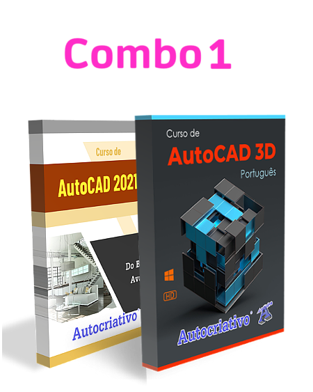 Combo 1 - Curso de AutoCAD 2021 + Curso de AutoCAD 3D versão 2021