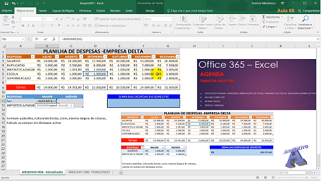 Imagens do Curso de Excel - Autocriativo