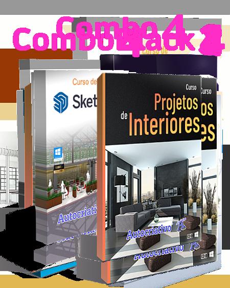 Combo 4 - Curso de SketchUp 2021 + Curso de Projetos de Interiores