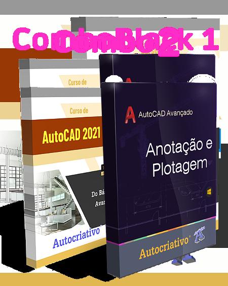 Combo 2 - Curso de AutoCAD 2021 + Curso de Anotação e Plotagem