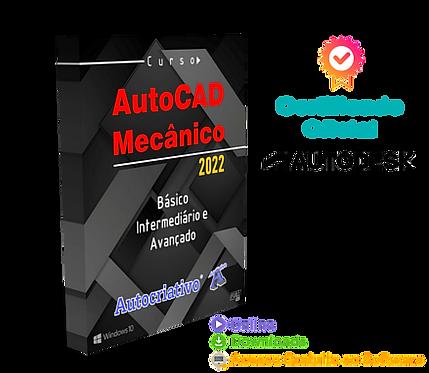 Curso de AutoCAD Mecânico 2022 - Básico, Inter e Avançado - Autocriativo