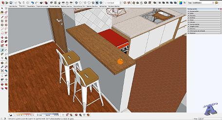 Imagens do curso de Projetos de Interiores com SketchUp - Autocriativo