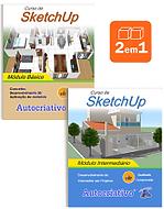 Curso de SketchUp Módulo Básico e Intermediário juntos