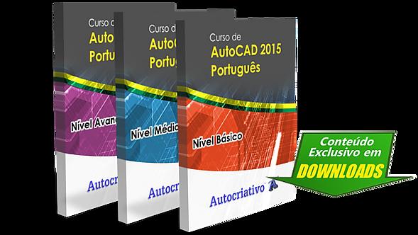 Curso de AutoCAD 2015 - Português (Combo 3 Níveis Juntos)
