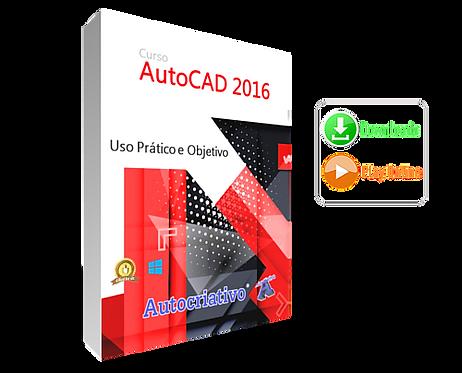 Curso de AutoCAD 2016 - Inglês -  Uso Prático e Objetivo BF