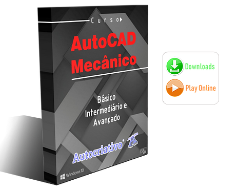 Curso de AutoCAD Mecânico 2019 e 2020 Básico - Interm. - Avançado (Promoção) BF