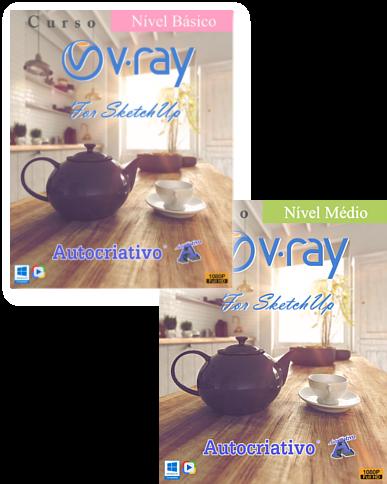 Curso de V-ray 3.4 - Nível Básico e Médio Juntos - Promoção Especial