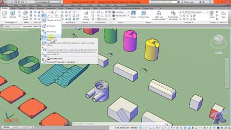 Imagens do Curso de AutoCAD 3D - Autocriativo