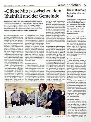 Franziska Brenn, Neuhauser Woche