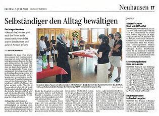 Franziska Brenn, Schaffhauser Nachrichten