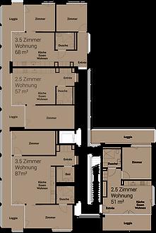 Haus C Obergeschoss