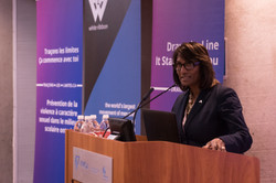 Minister Naidoo-Harris speaking at Drawing the Line on Sexual Violence_Nov 29