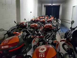 Sem manutenção, motos do Samu em São Paulo estão paradas