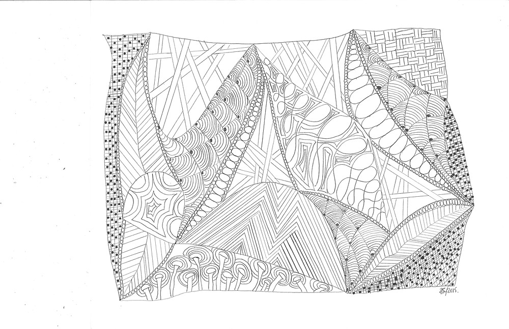 What is Zentangle? A process which allows the mind, hand and eye to explore by drawing a series of shapes, patterns, and textures. There is no goal with Zentangle. It requires no special skills, there are no mistakes.