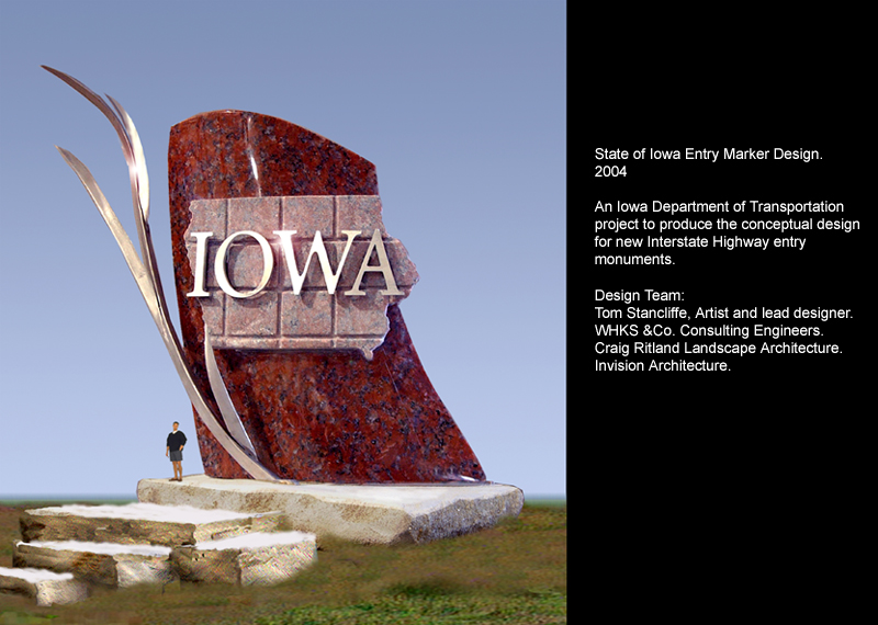 State of Iowa Entry Monument design