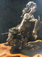 真土蝋型鋳銅「白沢」