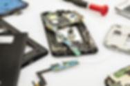 Téléphone portable en pièces détacées