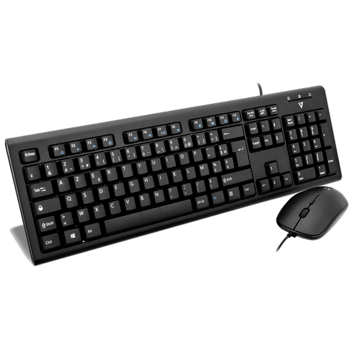 V7 Combo Clavier/Souris Filaires USB/PS2