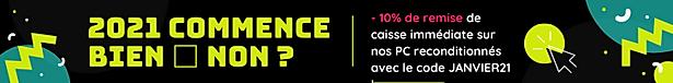 Bannière site web promo pc reconditionné