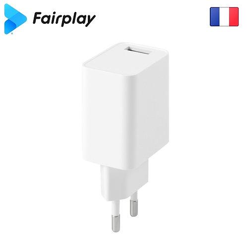 FAIRPLAY MILANO Chargeur 12W/1USB (Blanc)