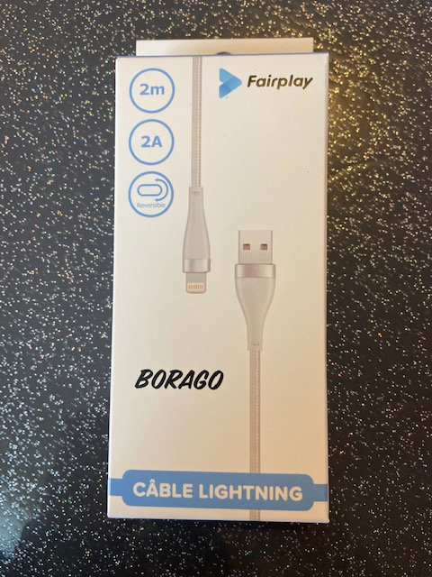 FAIRPLAY BORAGO Câble Lightning 2m (Blanc)