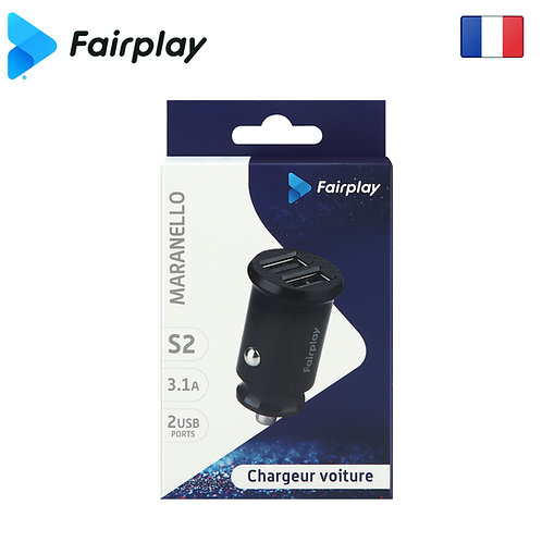 FAIRPLAY MARANELLO S2 Chargeur Voiture 3.1A